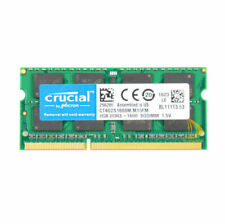 8gb Crucial 2rx8 Ddr3-1600mhz Pc3-12800 Laptop Memory SODIMM RAM Intel Notebook