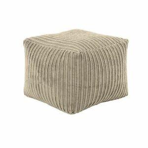 Corduroy Footrest Sofa Cover Footstools Pouffe Ottoman Furniture Seat Bean Bag