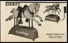 1951 Exhibit Supply Big Bronco & Pony Express coin-op kids horse ride photo ad