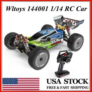 Wltoys 144001 1/14 2.4G 4WD 60km/h High Speed Racing RC Car Upgraded Battery