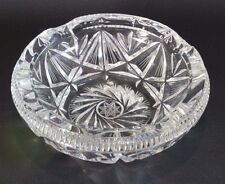 Lead Crystal Ashtray Heavy Cut Glass Star Design Lausitzer Germany