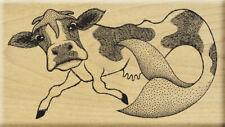 Mermaid Cow Rubber Stamp UNMOUNTED Mermoo Meer Image Art Funny Odd Animal UM