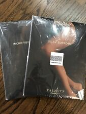 NEW IN PACKAGE TALBOTS LADYS CONTROL TOP BULK OF 2 BROWN & NUDE HOSIERY, SIZE M