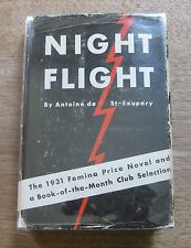 SIGNED - NIGHT FLIGHT by Antoine de Saint-Exupery - 1st HCDJ 1932 $1.75 - photo