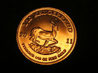 South Africa. 2011 1/10oz - gold 1/10th Krugerrand..   .917 gold. 16.6mm.. BU