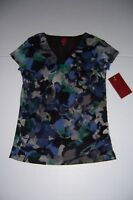 212 COLLECTION WOMEN'S SHIRRED V-NECK TOP BLOUSE SIZE X-SMALL NWT!
