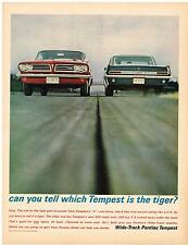 Vintage 1963 Magazine Ad Pontiac Can You Tell Which Tempest Is The Tiger