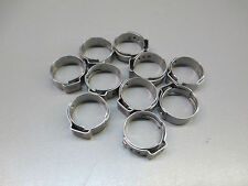 (10) 12.3mm BEVERAGE CLAMPS, STAINLESS HOSE CLAMP