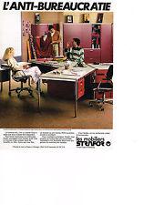 PUBLICITE  1978   STRAFOR   mobilier de bureau