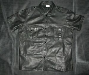 POLICE LEATHER UNIFORM SHIRT -  FOR JEANS TROUSES BREECHES BLUF ROB MR B GAY!!!