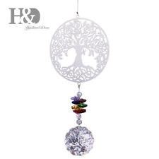 Crystal Suncatcher Chakra Colors Beads Life Tree Window Hanging Ornament Decor