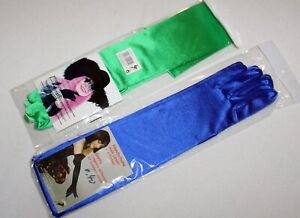 lange Handschuhe grün o. blau Kostüm Zubehör Damen preisgesenkt