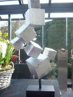 """Casablanca Design Skulptur """"Cubes"""" 74753 Metall auf Base H 56 cm"""