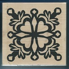 DIMENSIONAL HEART ART Snow Design RUBBER NATURE ArtStamps X- LARGE CRAFT STAMP