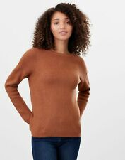Joules Womens Rosy Knitted Reversible Button Up Cardigan - Brown