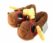 Nwt Boys Moose Brown Pull On Slipper Size S/M