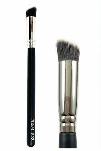 R&M 523 Sharp angled cut flat concealer brush