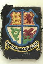 Vintage 'The Referees' Association' cloth badge, 4x3 inches approximately.