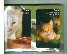 "Two Decks Non-Stand Playing Cards""108 Cat Recipes/Pet Care"" Finders Forum,Canada"