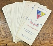 Lot 20 Vintage 1960's Knights of Pythias Invitation Application For Membership