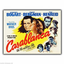 METAL SIGN WALL PLAQUE CASABLANCA Film Movie Advert poster print picture