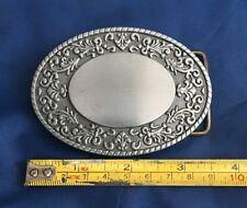 Oval Fleur-de-lis Belt Buckle Metal Brand New Unworn Unused