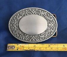 Oval Fleur-de-lis Belt Buckle Metal Brand New Unworn Unused