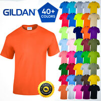 Gildan Plain Mens Heavy Cotton Short Sleeves Blank 100% Cotton Tshirt S-XL 5000