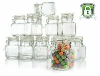 Stock Your Home 3 oz Airtight Glass Jars - 12 Pack