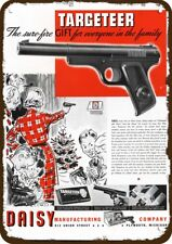 1937 DAISY TARGETEER BB Gun Pistol Vintage Look REPLICA METAL SIGN -NOT REAL GUN