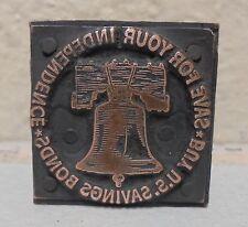 Vintage Buy Us Savings Bonds Metal Amp Wood Letterpress Printing Block Type Nice