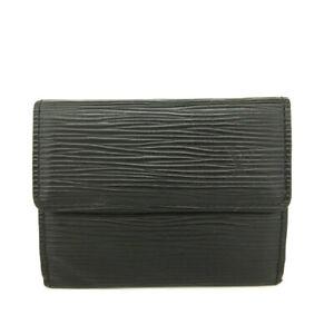 Louis Vuitton Epi Ludlow Black Leather Wallet Coin Purse /E1600