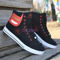 Mens Casual High Tops Lace up Sneakers Skateboarding Trainer Boot Shoes Sport