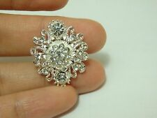 2 crystal button flower rhinestone diamante upholstery embellishment UK BT89