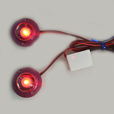 Red Auto Car 2 LED Strobe Bulb Light Emergency Warning Flash 12V with Controller