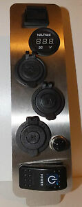 GU Patrol Panel Voltmeter 2 x 12V Cigarette USB Power Socket with Switch & CB
