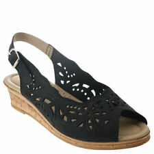 Spring Step Womens Orella Slingback Sandal Black Nubuck 40 Eu/9 M US