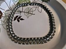 "�� Jewelry Garage Sale!�� Vintage Silver Herring Bone Choker 14-1/2"" ��"