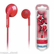 Philips Flexi-Grip Balanced Tone Bass In-Ear Bud Headphones RED + PINK *6994*