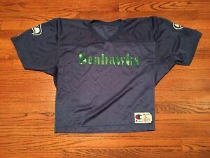 Vintage MESH CROP Seattle Seahawks jersey Champion L