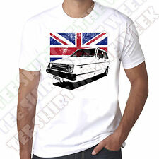 Reliant Robin Rialto Union Jack Mens personalisable 100% Cotton White T-shirt