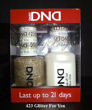 DND Daisy Soak Off Gel Polish Glitter For You 423 full size 15ml LED/UV gel duo