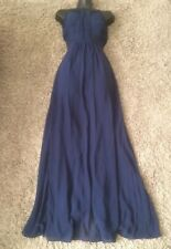 (#2580) COAST Lovely Navy Blue Chiffon Maxi Special Occasion Dress Size 10 UK