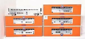 Lionel Santa Fe Superliner Hi-Level 6 car Passenger Set 6-39129 And 6-15315