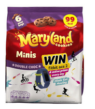 48 x Mini Maryland Double Chocolate Chip 19.8g Cookies Bags - FREE POSTAGE