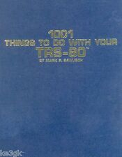 1001 Things to do with your TRS-80 * CDROM * PDF