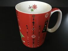 STARBUCKS Holiday 2006 Red Gold STOCKINGS SNOWFLAKES Christmas Coffee Mug