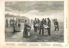 Paris Exposition Peinture l'Ecole des Tambours par Léon Couturier GRAVURE 1879