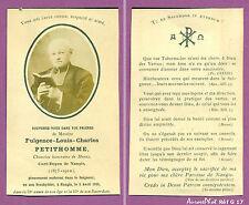 FAIRE-PART SOUVENIR DÉCÈS FULGENCE PETITHOMME CURÉ-DOYEN DE NANGIS,1910  - G17