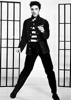Elvis Presley Jailhouse Rock Large Poster Art Print Black & White Canvas or Card